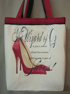 Wizard of Oz Red Shoes only as a pillow not a purse
