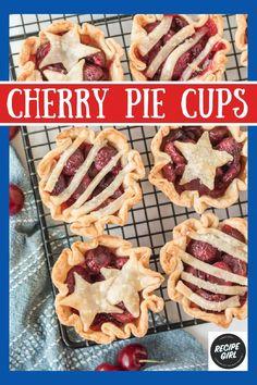 Easy Pie Recipes, Muffin Tin Recipes, Best Dessert Recipes, Candy Recipes, Easy Summer Desserts, Mini Desserts, Just Desserts, Pie Pastry Recipe, Pastry Recipes