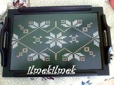 This Pin was discovered by Naz Home Decor, Trays, Embroidery, Lace, Dresses, Vestidos, Decoration Home, Needlepoint, Room Decor