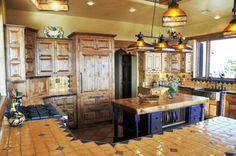 tolle mexikanische Küche mit Fliesen belegt ---- great Mexican kitchen with tiles