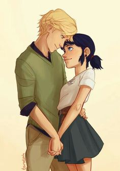''Adrien and Marinette''