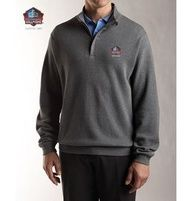 Hall of Fame Cutter & Buck Supima 1/2 Zip Sweater