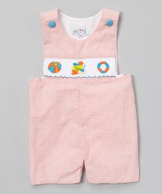 Another great find on #zulily! Orange Beach Scene Smocked John Johns - Infant & Toddler #zulilyfinds