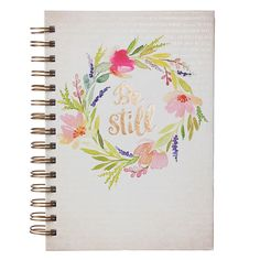 Very pretty watercolor print cover with a passage from Psalm 46:10 in the background. Be Still journal has bible verses at the bottom of the blank writing pages. 5 3/4 x 8 1/4 Inch - 192 Lined Pages
