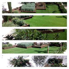 Collage jardín tras 8 meses desde su instalación
