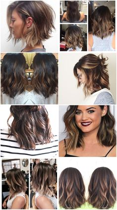 Short hair ombre