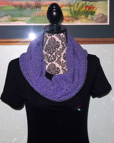 A personal favorite from my Etsy shop https://www.etsy.com/listing/465930640/purple-infinity-scarf