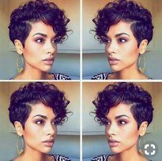 somenin s?ndan rapor al? Pixie Cut Curly Hair, Short Curly Pixie, Curly Pixie Hairstyles, Short Curly Haircuts, Short Hair Cuts, Curly Hair Styles, Natural Hair Styles, Blonde Pixie, Trendy Hairstyles