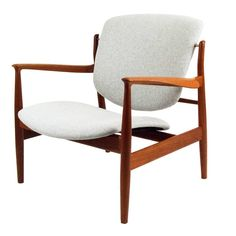 Finn Juhl 136 Chair | From a unique collection of antique and modern lounge chairs at https://www.1stdibs.com/furniture/seating/lounge-chairs/
