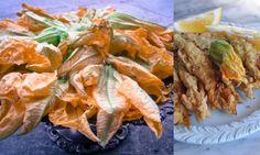 Fried Squash or Zucchini Blossoms  Fiori di zucca fritti
