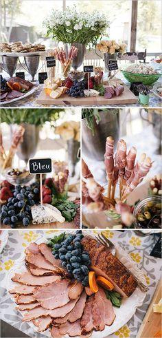 catering ideas for wedding                                                                                                                                                                                 More Wedding Food Stations, Wedding Reception Food, Wedding Catering, Wedding Ideas, Drink Stations, Wedding Table, Wedding Decor, Cork Wedding, Wedding Costs