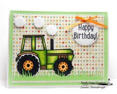 North Coast Creations Stamp Set: I Dig You,  North Coast Creations Custom Dies: Tactor, Fairies Our Daily Bread Designs Custom Dies: Grass Lawn, Double Stitched Rectangles, Double Stitched Circles,  Our Daily Bread Designs Paper Collection: Birthday Bash