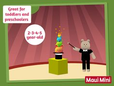 Maui Mini App Educational Games great for Toddlers and Preschoolers 2 - 5 year old.