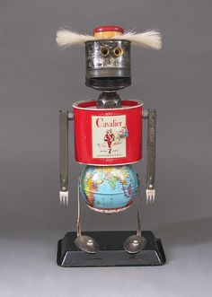 Robot Sculpture Metal art sculpture Junk by CastOfCharacters23