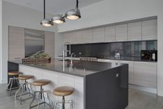 LG Interiors Design a Chic Penthouse in Chicago...sexy kitchen June 2016