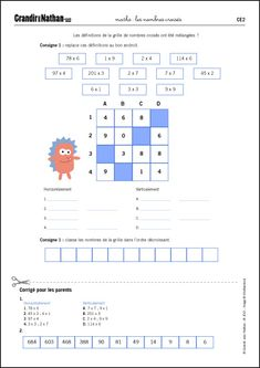 Maths - CE2 - Les nombres croisés