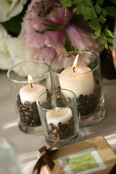 Use coffee beans throughout your decor.