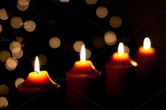 Christmas candles by ChristianThür Photography on Creative Market