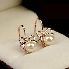 Lovely Style Bowknot Women's Fashion Earring - USD $26.95