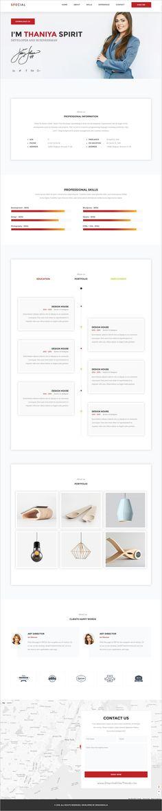 Iresume - Resume   Portfolio   CV \ vCard Resume cv and Template - resume html template