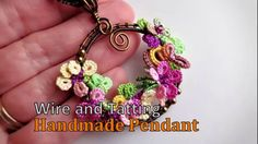 Tatting and Wire Pendant