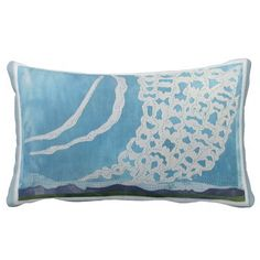 Clouds of Lace, quilted art throw pillow pajaritaflora $44.95
