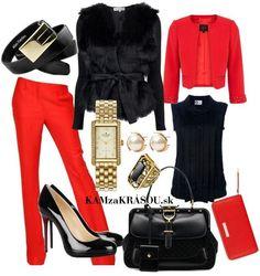 Neodolateľná čierno červená :) #kamzakrasou #sexi #love #jeans #clothes #coat #shoes #fashion #style #outfit #heels #bags #treasure #blouses #dress