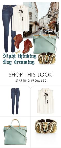 """Night thinking, Day dreaming."" by sweetblackheart ❤ liked on Polyvore featuring Frame, H&M, Loeffler Randall, Giancarlo Petriglia, Panacea and Yoko London"