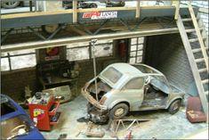 Fiat 500, Diorama, Baby Strollers, Beautiful Pictures, Garage, Cars, Scrap, Model Building, Baby Prams