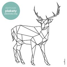 Plakaty geometryczne zwierzęta Kids Poster, Origami, Peace, Drawings, Picture Ideas, Ikea, Pictures, Posters, Shirt