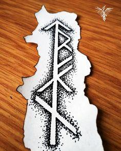 Custom bind rune design #drawing #sketching #doodle #illustration #stippling #dotwork #dots #blackandwhite #black #ink #pen #burn #fire #paper #norse #viking #runes #bindrune #tattoo #design #handpokedtattoo #czech #raven #north