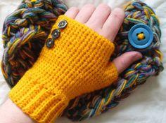 Seamless fingerless glovepattern