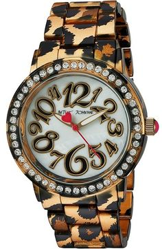 Betsey Johnson Women's Quartz Metal and Alloy Automatic Watch, Multi Color Leopard Print Wedding, Automatic Watch, Betsey Johnson, Cute Outfits, Quartz, Wild Things, Watches, Metal, Stuff To Buy