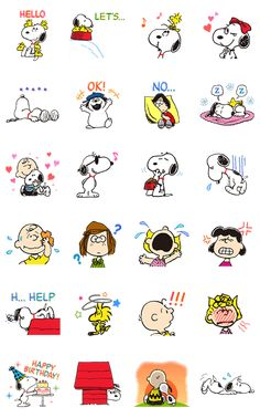 Snoopy and the Peanuts gang are back, this time as animated stickers! Liven up your chats with these fun stickers featuring Snoopy and friends in all sorts of situations. Snoopy Love, Charlie Brown Und Snoopy, Snoopy And Woodstock, Peanuts Gang, Peanuts Cartoon, Printable Stickers, Cute Stickers, Planner Stickers, Snoopy Images