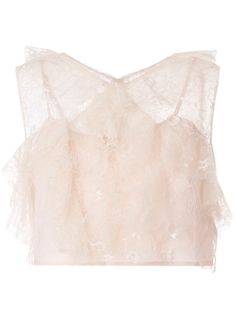 Soft pink Floyd ruffled sleeveless top from Alice McCALL featuring a ruffled design, embroidered details, a V-neck and a cropped length. Alice Mccall, Pink Floyd, Camisole Top, Women Wear, Geek Stuff, Dimebag Darrell, Tonight Alive, Fashion Design, Dexter Morgan
