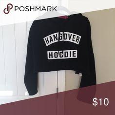 Crop top hoodie This a black crop top hoodie Boohoo Tops Crop Tops