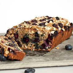 Healthy Blueberry Oatmeal Bread by Sweet Treats & More.-for my boys