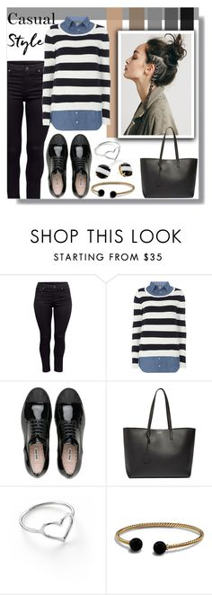 """""""Casual jewelry"""" by rea17 ❤ liked on Polyvore featuring H&M, Dorothy Perkins, Yves Saint Laurent, Jordan Askill, David Yurman and Kate Spade"""