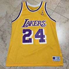 79c36cc78188 George Lynch Champion Size 48 Lakers 24 Home Jersey