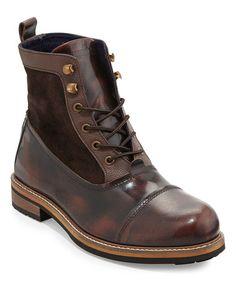 Another great find on #zulily! Dark Brown Ralph Leather Boot by Ben Sherman #zulilyfinds