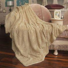 BOON Throw & Blanket Herringbone Faux Fur Throw Blanket Color: Beige