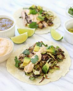 Tacos filled with cumin lime grilled chicken, crispy shredded brussels sprouts, and a delicious cashew crema, ready in under 30 minutes! Within the past month, I've become a little obsessed with tacos. I crave them ALL the time. It's probably because I tried Siete Foods tortillas for the first time (cassava & chia and almond...Read More »