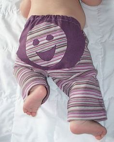 monkey pants made from long sleeve Tshirt. Try these with cloth diapers...