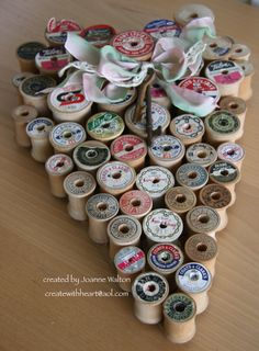 my work of heart inspired by pintrest! still looking for the perfect ribbon, I'll know it when I see it! @Bre