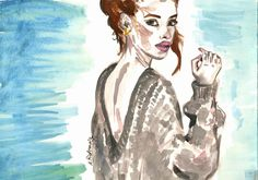fashion illustration by Anna Piotrowicz, www.littlecupofart.pl