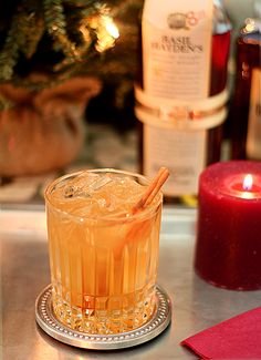 the Holiday Spice cocktail created for Basil Hayden by Tales of the Cocktail Convention 'Bartender of the Year' Joaquín Simó