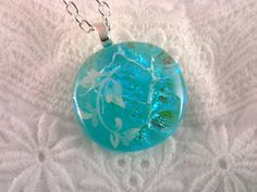 Dichroic Glass Pendant Fused Glass Jewelry  by AngelasArtGlass, $23.00