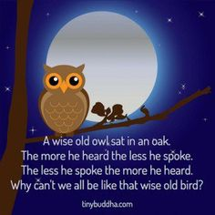 Wise Old Owl Quote