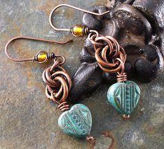 patina heart earrings 029   Flickr - Photo Sharing!