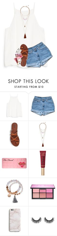 """""""feeling lonely:("""" by lindsaygreys ❤ liked on Polyvore featuring MANGO, Vince Camuto, Too Faced Cosmetics, Kim Rogers, NARS Cosmetics and Harper & Blake"""